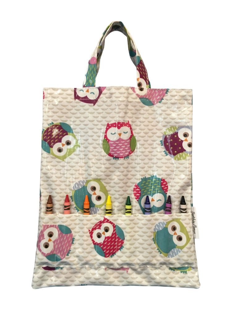 Pink Owls Crayon Bag