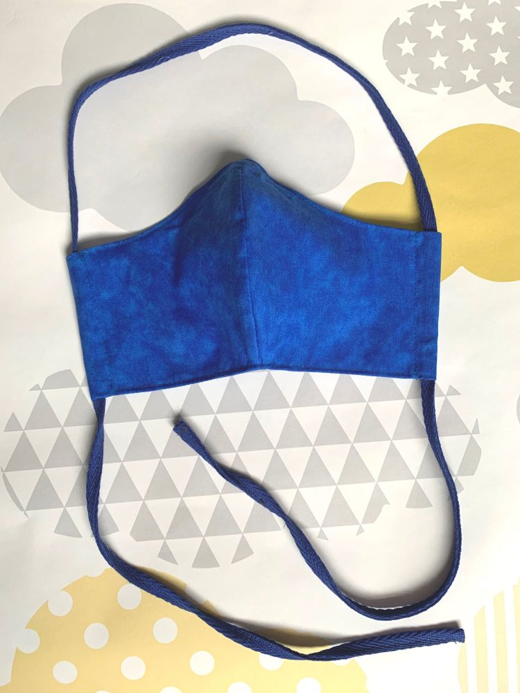 Plain Royal Blue Face Mask
