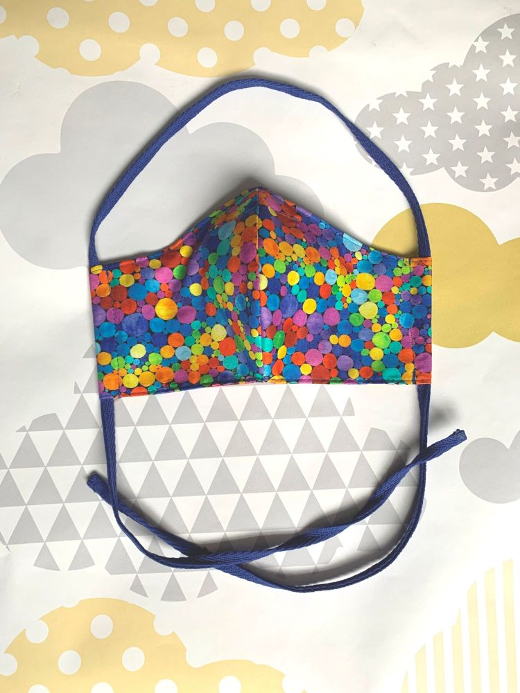 Rainbow bubble Face Mask