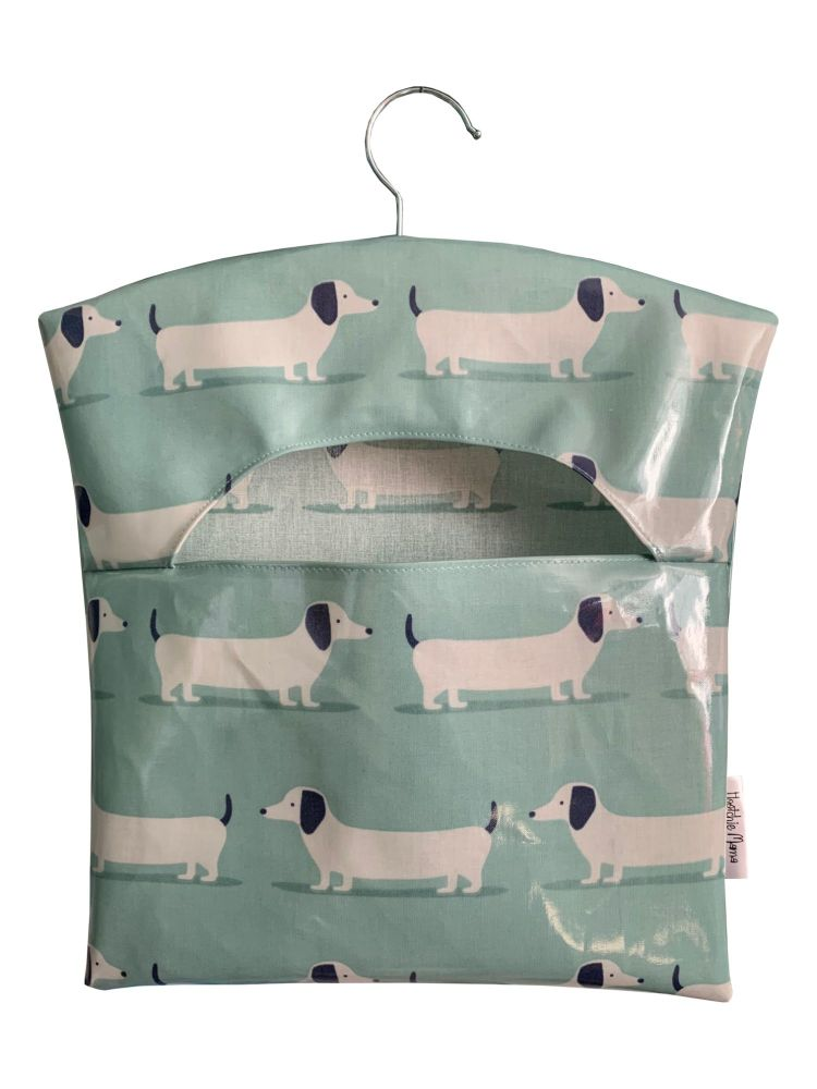 Hound Dog Teal Peg Bag