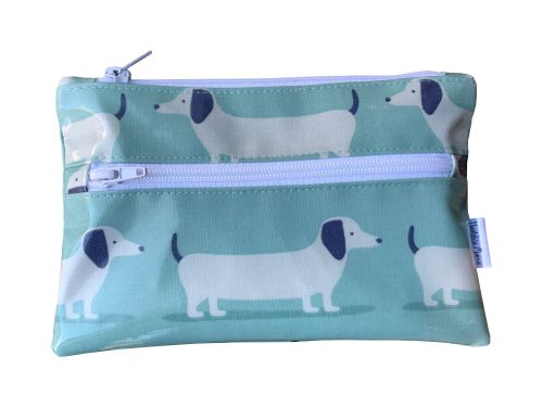 Hound Dog Teal Pencil Case