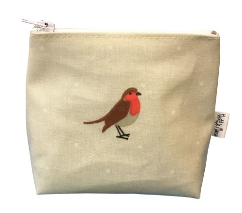 Garden Birds Mini Makeup Bag