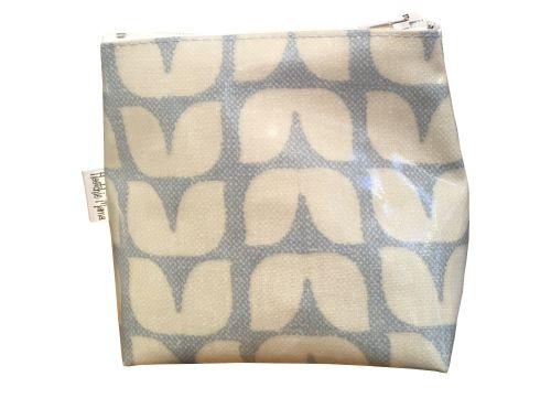 Tulip Blue Mini Makeup Bag