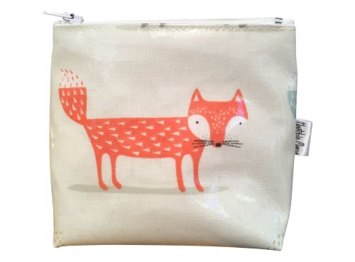 Orange Fox Mini Makeup Bag