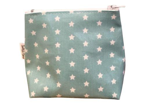 Teal Stars Mini Makeup Bag