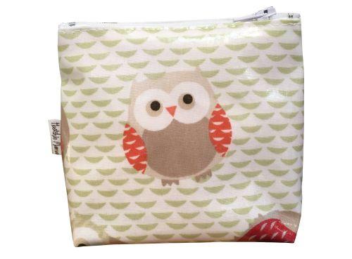 Brown Owl Mini Makeup Bag