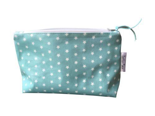 Teal Stars Cosmetic Bag