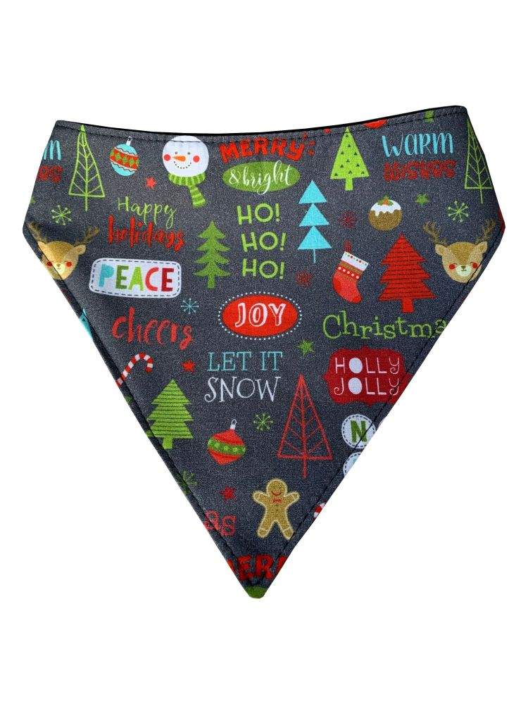 Happy Holidays Dog Bandana