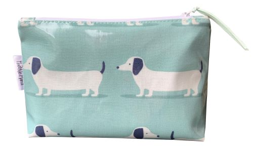 Hound Dog Teal Cosmetic Bag