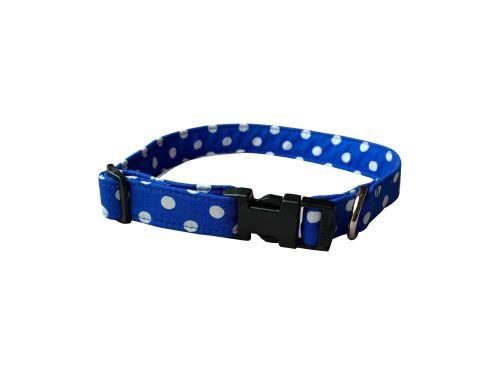 Royal Blue Spot Dog Collar