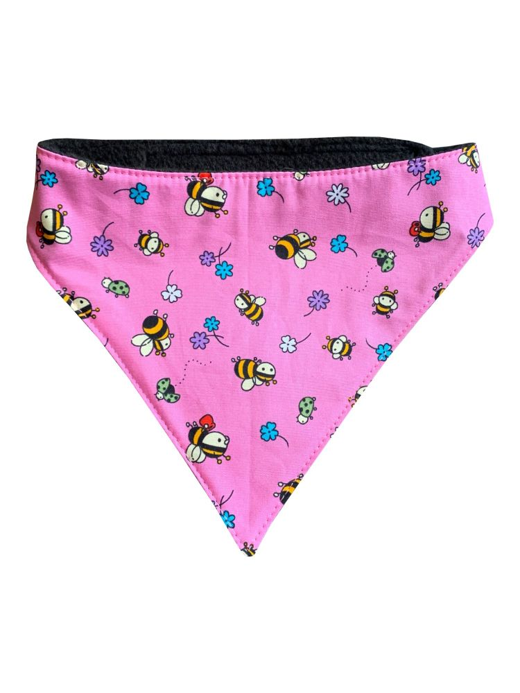 Pink Bees Dog Bandana