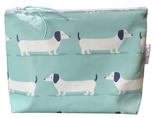 Hound Dogs Teal Washbag