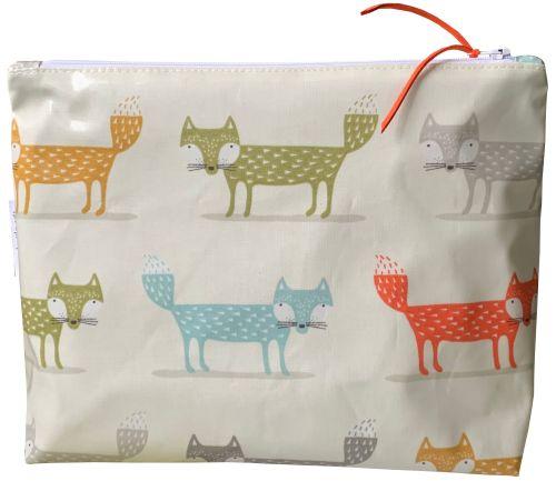 Orange Fox Large Washbag