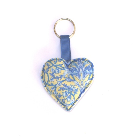 Heart Keyring in Fleurette LR