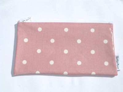 Polka Dot Make-up Bag in Pale Pink