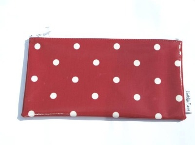 Polka Dot Make-up Bag in Red