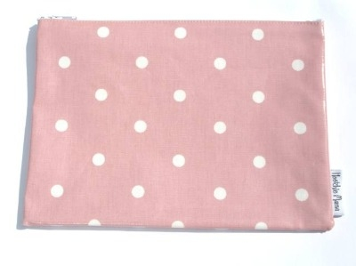 Polka Dot Washbag in Pale Pink