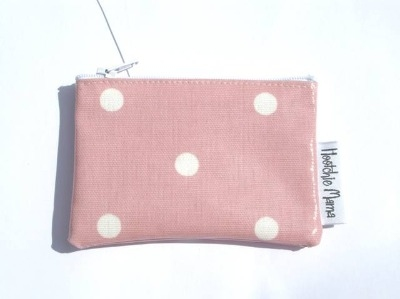 Polka Dot Mini Purse in Pale Pink