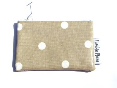 Polka Dot Mini Purse in Taupe Brown