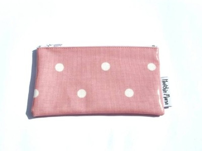 Polka Dot Purse in Pale Pink