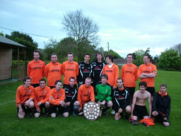 2009 Division 3 champions & Geoff Wilson cup winners celebrate their prizes