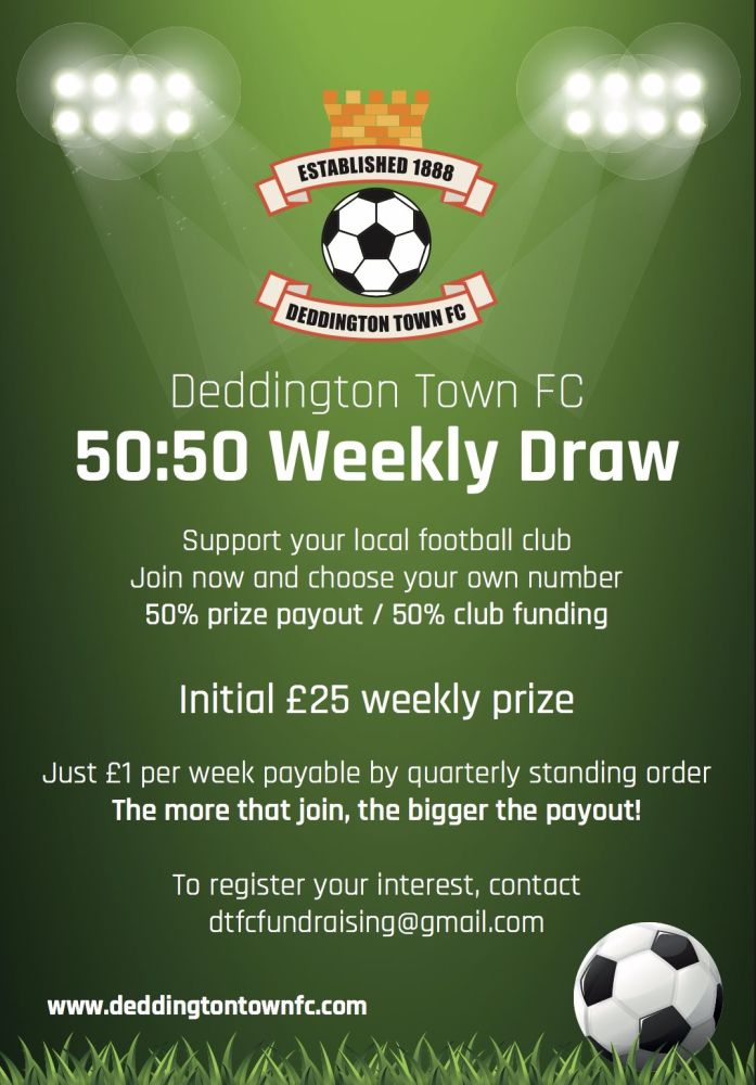 DTFC 5050 Draw Advert