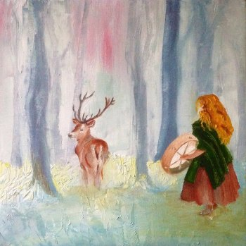 Drumming the Stag - SOLD - Prints available