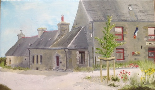 Mairie, Mael-Pestivien, Brittany