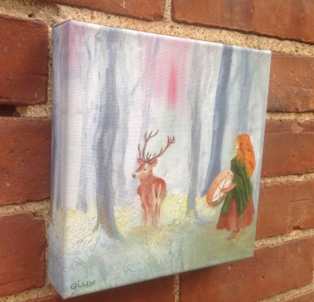 Drumming the Stag - Small canvas