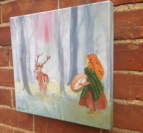 Drumming the Stag - Medium canvas