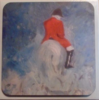 """Winter Huntsman"" Coasters"