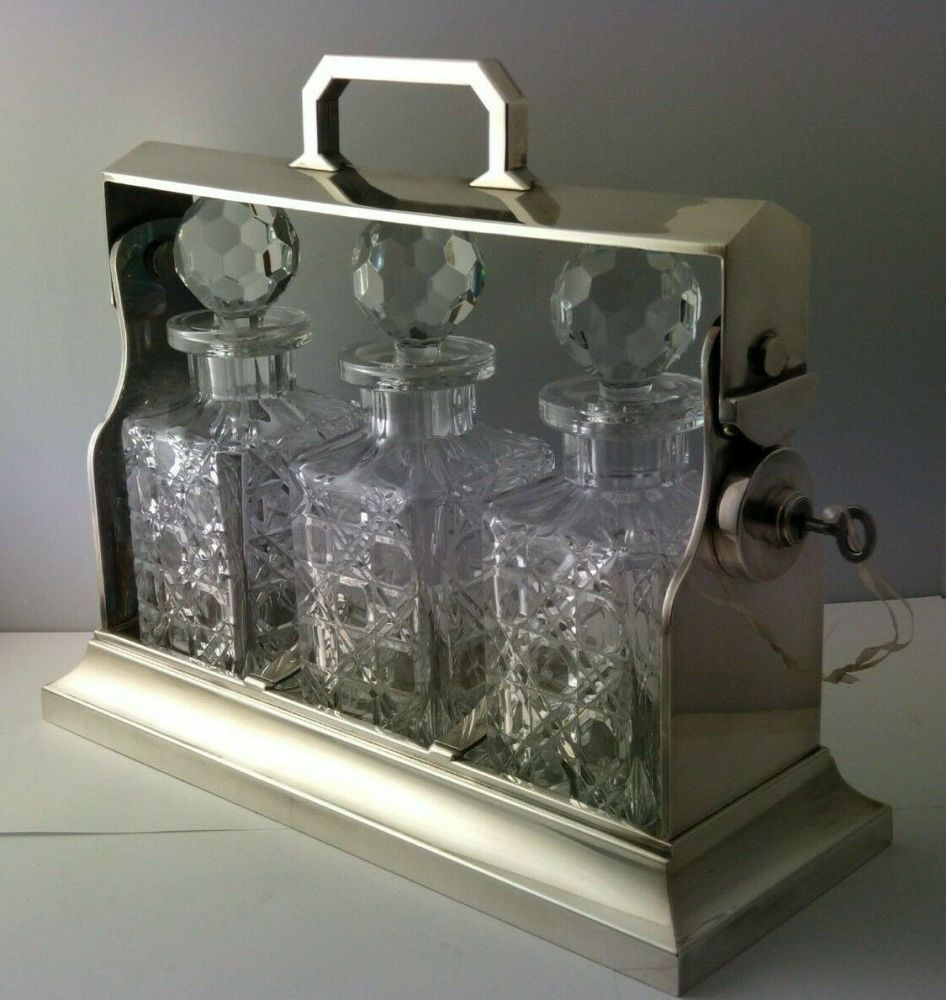 Edwardian Silver Plated Tantalus