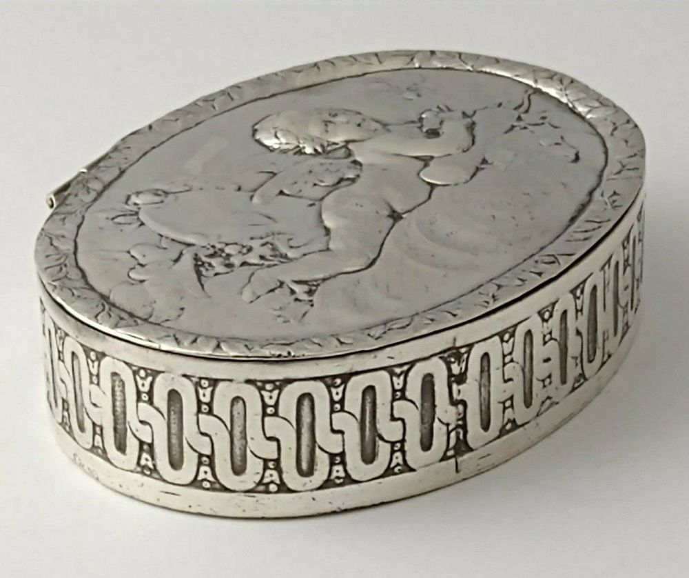 Berthold Muller Victorian Silver Trinket Box - Chester 1901