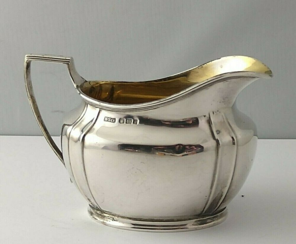 George V Silver Cream Jug -128g - Sheff. 1915