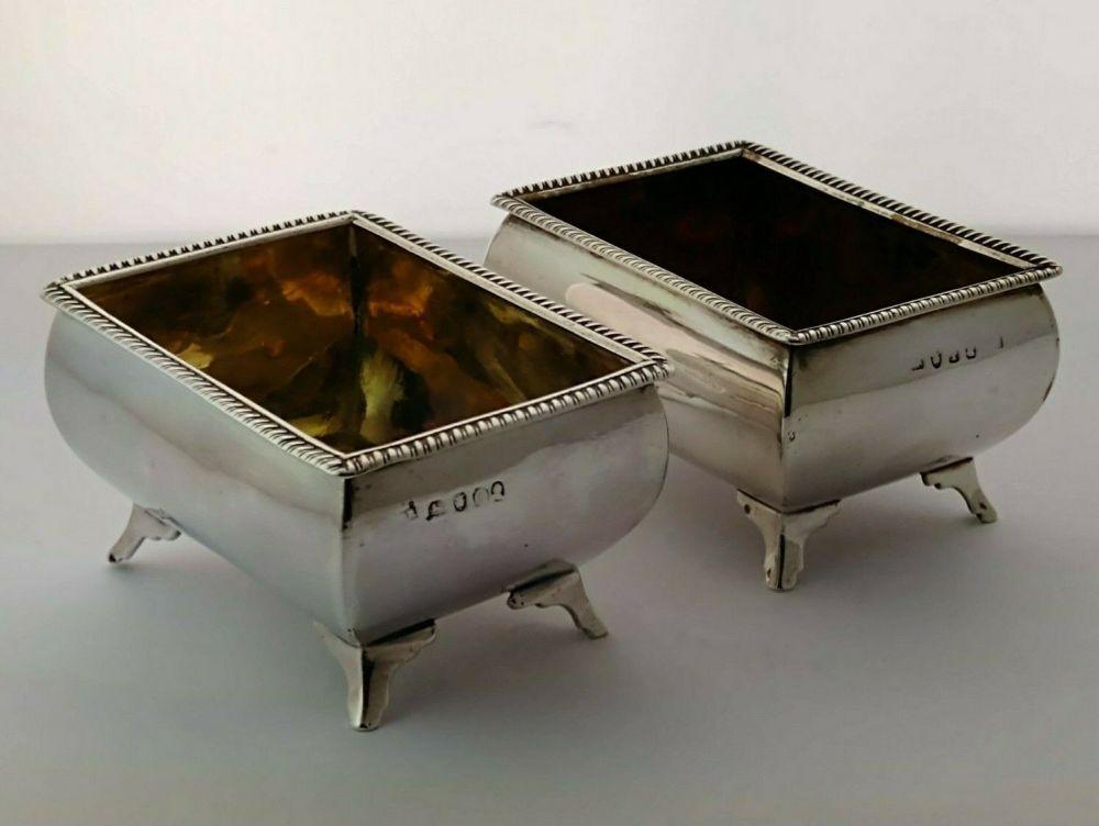 Pair Of George III Silver Salts - 164g - London 1804/09