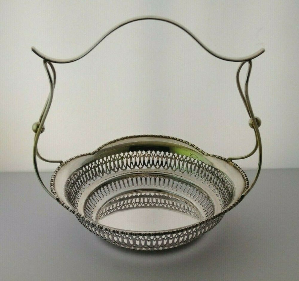 Mappin & Webb Silver Cake Basket - Sheff. 1905