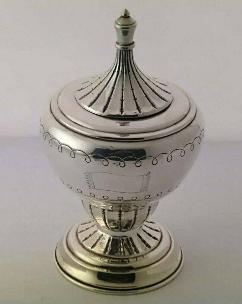 Unusual George V Silver Tea Caddy - 191g - Birm. 1927
