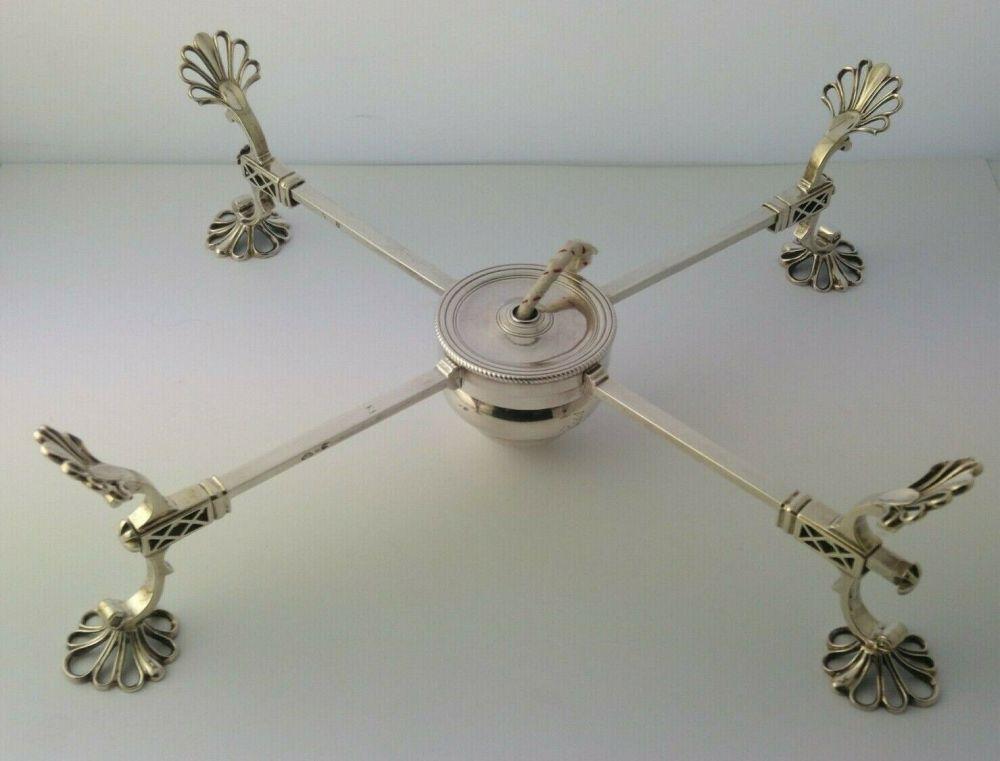 Early George III Silver Dish Cross - Charles Aldridge & Henry Green London 1769