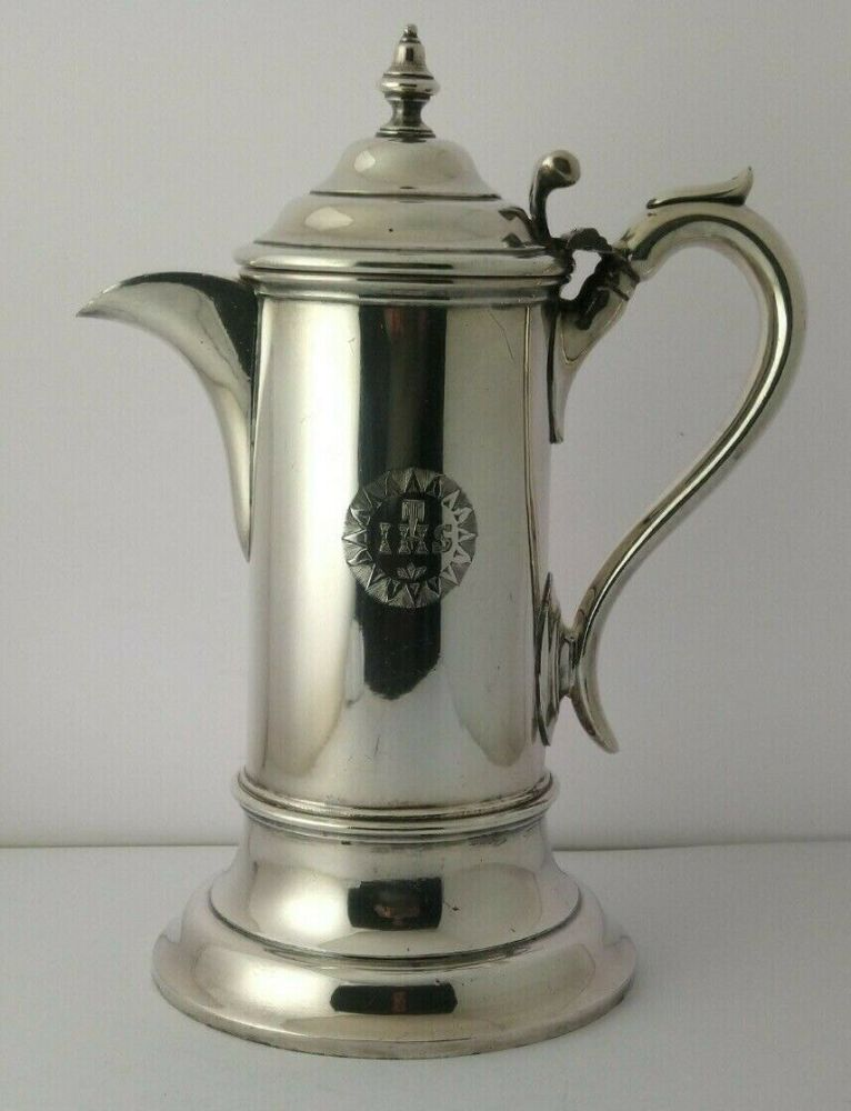 Large Victorian Silver Plated Holy Communion Wine Ewer - Walker & Hall C.1890