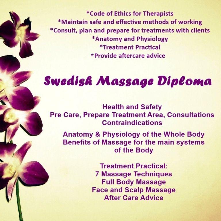 Accredited Swedish Massage Diploma Stockport