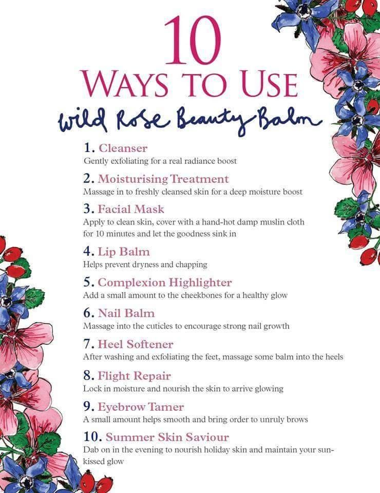 Wild Rose Beauty Balm ways to use