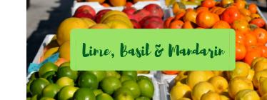 Lime, Basil and Mandarin Wax Melt