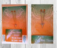 """Angel"" handmade greeting card and necklace"