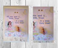 "Handmade ""Fairy Dust"" Greeting Card and Necklace"