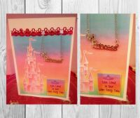 "Handmade ""Princess"" greeting card and necklace"