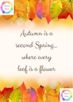 "Autumn is a second spring - 7"" x 5"" print at home PDF printable"