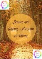 "Autumn Leaves are Falling  7"" x 5"" print at home printable"