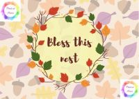 "Bless This Nest (2) 7"" x 5"" print at home printable"