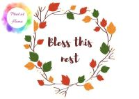 "Bless this Nest 7"" x 5"" at home printable PDF"