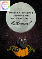 "When Black cats prowl...7"" x 5"" print at home halloween printable"